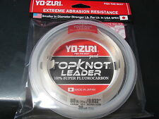 YO-ZURI TOPKNOT LEADER 100% SUPER FLUOROCARBON 80lb 30yd R1235-NC Natural Clear