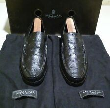 New Mezlan ostrich leather Cannes 8 M black (250)