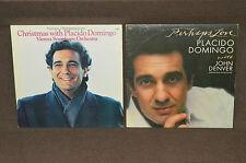 PLACIDO DOMINGO 2 LP LOT VINYL ALBUMS COLLECTION Perhaps Love / Christmas With