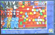 jigsaw puzzle 500 pc Puzzlebug travel size Carnival Fun teddybears and balloons