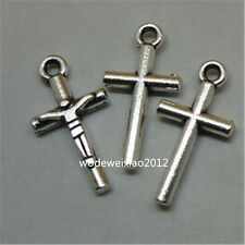 30pc Retro Tibetan Silver CROSS Charm Beads Pendant accessories Findings JP548