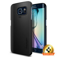[Spigen Factory Outlet] Samsung Galaxy S6 Edge Case Thin Fit Smooth Black