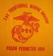 1ST MARINE PROVISIONAL BRIGADE lrg T shirt Korean War 1950 Pusan USMC