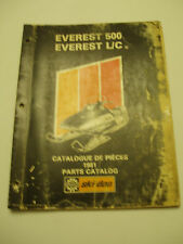 SKIDOO 1981 EVEREST 500 EVEREST L/C PARTS AND ACCESSORIES CATALOG MANUAL