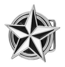 White Black Nautical Celtic Star Belt Buckle Tattoo Hip