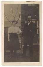 RPPC  MISS SASSY and MR. BOW TIE Short Skirt & Suit Postcard  CYKO 1904-1920s