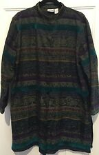 Chico's Size  3 XL LONG Brocade Tapestry Jacket Rich Jewel Colors