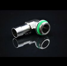 """1 Pcs 90° angle barb Fitting  For Water Cooling Radiator 3/8"""" ID G1/4"""