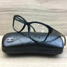 Chanel 3255 Eyeglasses Black Silver 501 Authentic 52mm