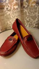 NEW  COACH Leather MARY LOCK UP Women's Loafers Slip On Flats Shoes 7.5