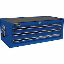 Homak Pro Series 27in 3- Drawer Middle Chest- Blue 26 1/4inW x 12inD x 9 7/8inH