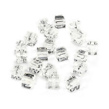 20pcs clear 6mm Faceted Square Cube Cut glass crystal Loose Spacer beads