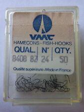 VMC Taglia 24 Ganci Di Pesca Scatola di 50 Micro Barb Spade fine