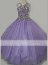 Jewel Neckline Pageant Gown Little Girls/Girls'Pageant Dresses Chiffon Ball Gown