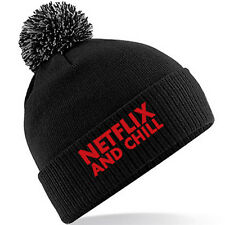NETFLIX AND CHILL Beanie Lots Of Colours - Cotton Custom Hat Gift