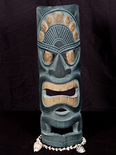 "POLYNESIAN CARVED TIKI MASK 20"" -  HAWAIIAN DECOR"