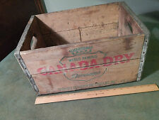 Canada Dry Ginger Ale (Wood_Metal Edged) Soda Pop Crate (Vtg.) Repurposed Decor