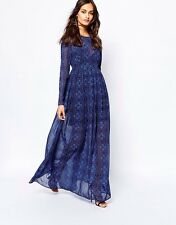 The Jetset Diaries Blue Moroccan Tile Maxi Long Dress Small S $315