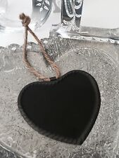 Small Hanging Heart Chalk Board Metal Blackboard Wedding Table Name Place Favour