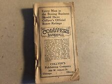 Antique 1932 Collyer's Pocket Manual Year Book Boxing Rankings very rare booklet