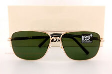 Brand New MONT BLANC Sunglasses MB 508S 508 28N Gold/Solid Green for Men