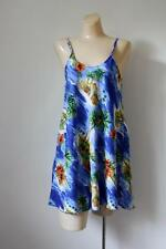 Rima Hawaiian Dress Blue Hawaii Mini Beach Wear Coverlet S/M