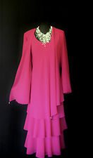 CATTIVA Pink Wedding Outfit Size 26 Mother of the Bride Dress & Jacket Designer