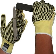 KEVLAR CUT RESISTANT DOTTED HEAVY WEIGHT GLOVES HANDLING SLASH PROTECTION GLOVE