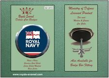 Royale Classic Car Grill Badge + Fittings - ROYAL NAVY OFFICIAL EMBLEM - B2.3072