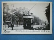 POSTCARD RP SOUTHPORT TRAM CAR NO 8 IN LORD ST C1905