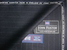 100% SUPERFINE WOOL WORSTED SUITING FABRIC MADE IN ENGLAND BY JOHN FOSTER- 5.5 m