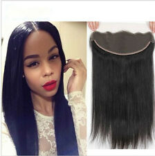 "14"" 13x2 7A Malaysian Straight Lace Frontal Closure Virgin Human Hair Ear To Ear"