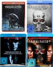 TERMINATOR 1 2 3 4  Uncut SCHWARZENEGGER 4 BLU-RAY Collection NEU Quadrilogy