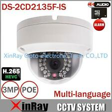 Hikvision DS-2CD2135F-IS HD 3MP IP67 IR Network Mini Dome POE IP Camera