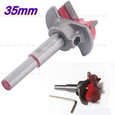 1Pcs 35MM Forstner Woodworking Boring Wood Hole Saw Cutter Drill Bit With Guide