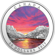 Canada 2017 Weather Phenomenon #4 - Fiery Sky - 1 oz $20 Pure Silver Coin