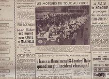 journal  l'équipe 12/07/50 CYCLISME TOUR DE FRANCE 1950 LES JEEPS DU TOUR
