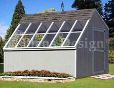 10 x 12 Greenhouse Nursery Garden Shed Plans #41012