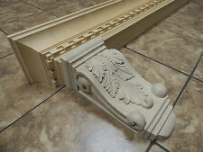 "Pair of Acanthus Maple Wood Corbels 7""x 5-3/8"" x 14"""