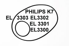 SET BELTS PHILIPS TAPE DECK K7 EL3300 EL3001 EL3302 EL3003 NEW EL 3300 3302 3303