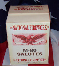 THE NATIONAL FIREWORK COMPANY M-80 SALUTES HISTORICAL FIRECRACKER BOX REPLICA