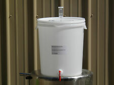 Plastic Fermenter w/Lid, 30 Liters (8 Gallons)-With Spigot and 3-Piece Air Lock