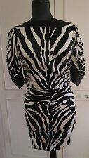 Dolce & Gabbana silk zebra print animal Wiggle pencil Dress IT42UK10EU36 US6