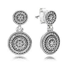 GENUINE & AUTHENTIC PANDORA Silver Radiant Elegance Drop Earrings. 290688CZ.