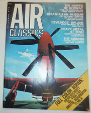 Air Classics Magazine Strathallan Museum Hawks Of Norway January 1976 040915R