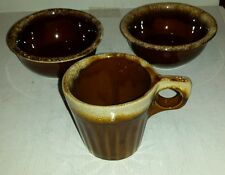 VTG HULL OVEN PROOF BOWLS AND CUP NICE!