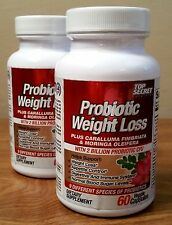 Top Secret Probiotic Weight Loss Capsules Lot of 2 60 Count Bottles