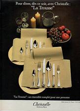"""Publicité 1983 Christofle  """" La Trousse """"  Orfèvre à Paris  couvert"""