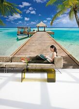 No tejida Foto Wallpaper Mural Beach Resort Ocean orilla arenosa 368x254cm