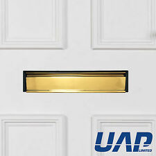 Secured by Design 12 Inch Anodised Gold Letterbox (For 20-40mm Thick Doors)